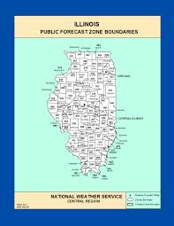 Chicago Il Map by Maps Illinois Zone Forecast Boundaries