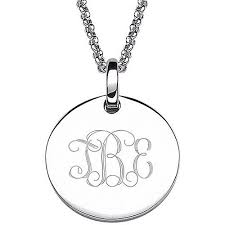monogram necklace sterling silver personalized women s sterling silver engraved monogram