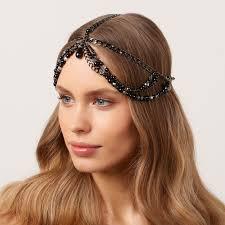 chain headpiece black pearl chain headpiece jewelry inspirations musings