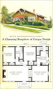 small bungalow style house plans 1918 gordon tine no 580 craftsman style bungalow vintage