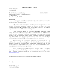 best solutions of sample cover letter medical technologist for