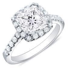Circle Diamond Wedding Ring by 3 51 Ct Princess Cut Halo Pave Round Diamond Engagement Ring I