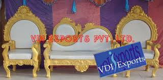 Indian Wedding Chairs For Bride And Groom Wedding Thrones Chairs Two Seater And Indian Wedding Accessories