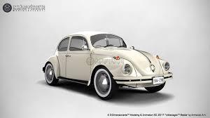 volkswagen white beetle artstation volkswagen beetle 3d on the road 3 dimensionarte