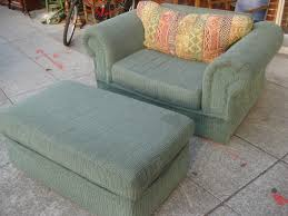 Stylish Armchairs Ottoman Beautiful Oversized Reading Chair In Dark Brown Fabric