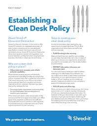 Desk Audit Definition Clean Desk Policy Checklist U0026 Guide Security Policies Shred It
