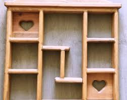 Rustic Wood Bookshelves by Hanging Box Shelf Etsy