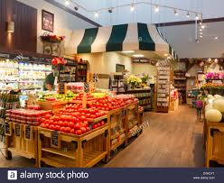 the fresh market grocery store in south carolina usa stock photo
