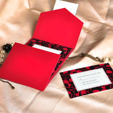 Affordable Pocket Wedding Invitations Modern Red And Black Pocket Printable Wedding Invitation Kits