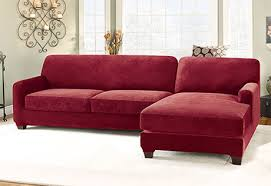 Cover For Sectional Sofa Sure Fit Stretch Pique Two Seat With Chaise Sectional Covers
