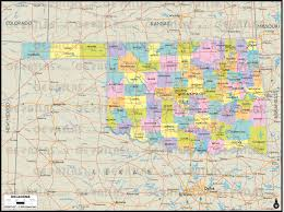 Oklahoma Map With Cities Geoatlas Us States Oklahoma Map City Illustrator Fully