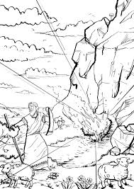 moses and the burning bush coloring page free download