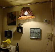 Plug In Hanging Light Fixtures by Tension Rod Hanging Lamp Ikea Hackers Ikea Hackers