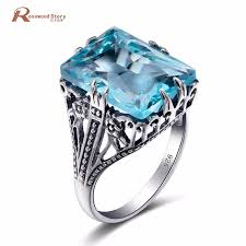 big stones rings images Newest handmade sterling silver 925 ring vintage jewelry sky blue jpg