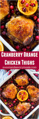 cranberry orange chicken one pan sweet and savory meals
