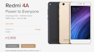 Xiaomi Redmi 4a Xiaomi Redmi 4a Flash Sale Goes Out Of Stock Within Minutes Zee