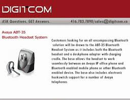 Bluetooth Headset For Desk Phone Avaya Abt 35 Bluetooth Headset System Digitcom Ca Busines