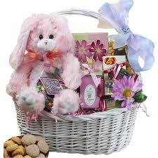 baby s easter gifts my special bunny easter gift basket with pink plush