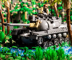 lego army tank m48 patton main battle tank brickmania toys