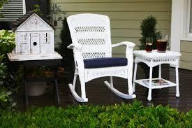 White Wicker Patio Chairs White Wicker Rocking Chair