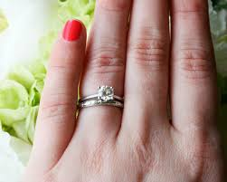 how to wear your wedding ring mix match your vintage and new wedding and engagement rings
