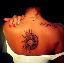 sun moon tattoos what s their meaning plus photos sun and moon
