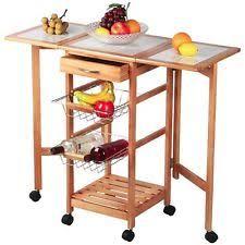folding kitchen island folding kitchen cart ebay