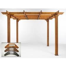outdoor greatroom company sierra 10 x 10 cedar pergola mocha