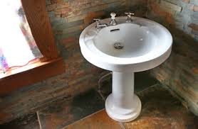 bathroom sink bathroom pedestal shallow pedestal sink vessel