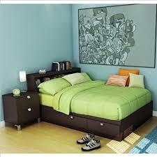 amazon com kids full wood storage bed 3 piece bedroom set in