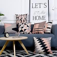 coussin pour canapé gris taie d oreiller style nordique housse de coussin décoratif