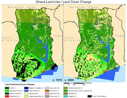Ghana Africa Map Land Cover Applications And Global Change