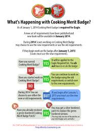 cooking merit badge worksheet answers new cooking merit badge requirements released scoutmastercg com