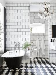 black and white tile bathroom ideas black and white bathroom in a stunning industrial style home in