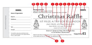 christmas ticket 4 raffle ticket printers