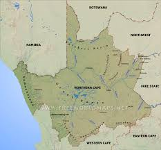 Map Of Northern Africa by Northern Cape Map South Africa
