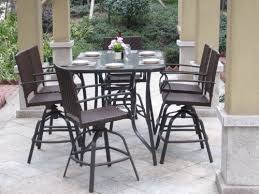 patio bar height dining set patio furniture dining sets bar height home design hay us