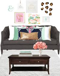 birch grove interiors navy and pink decor navy blue pillow pink