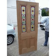 Traditional Exterior Doors Original Fully Restored Door With Made Stained