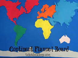 World Geography Map C Is For Continent Felt Board Geography Projects A Z Teach
