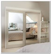 Closet With Mirror Doors Sliding Mirror Closet Doors Garage Glass With Regard To