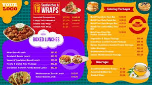 indian menu template restaurant digital signage menu board design from dsmenu