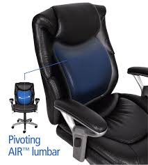 Blue Leather Executive Office Chair Amazon Com Serta Air Health And Wellness Mid Back Office Chair