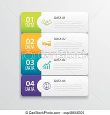 layout banner design 4 infographic tab index banner design vector and marketing vector