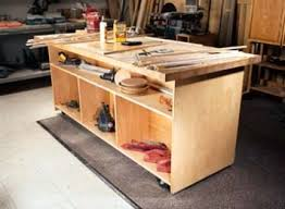 Woodworking Plans For Free Workbench by I Beam Work Island Popular Woodworking Magazine