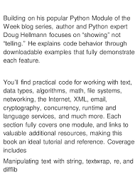 python tutorial ebook the python standard library by exle 1st edition pdf ebook full free