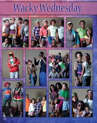 page idea for spirit week from the 2010 yearbook