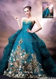 Blue Wedding Dress Blue And Gold Luxury Gothic Wedding Dress 1st Dress Com