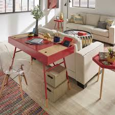 aalto two tone compartment desk with charging station inspire q