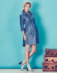 used maternity clothes chambray belted maternity shirt dress consignment online